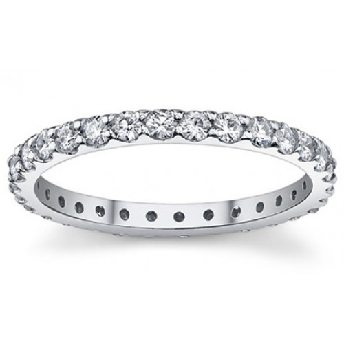 Sterling Silver Stackable Eternity Ring 2mm nvss01