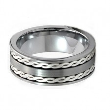 SterlingSilver inlay bursh Tungsten nv71c