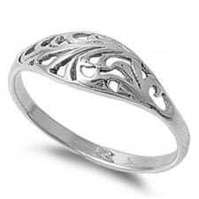 Sterling Silver Filigree Ring nva38