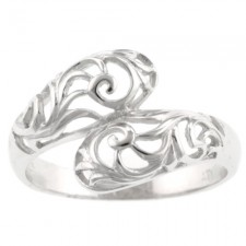 Sterling Silver Filigree By Pass Ring nva133
