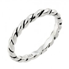 Sterling Silver Antiqued Rope Ring nva141