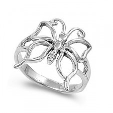 Sterling Silver Butterfly Ring nv325