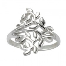 Sterling Silver Ivy Leaf Vine Ring nva26