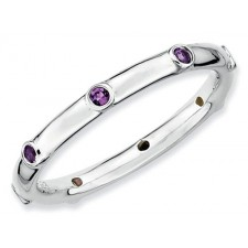Sterling Silver Amethyst Expressions Ring nv278