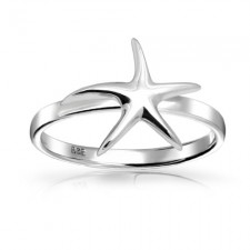 Sterling Silver Happy Starfish Ring nv241