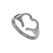 Sterling Silver Heart With Hands Ring nv349