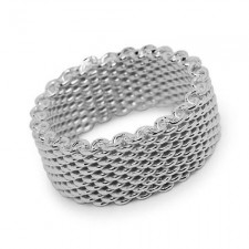 Sterling Silver Somerset Mesh Ring nva117