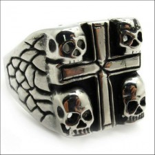Skull Cross Gothic Ring nva498