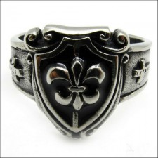 Royal Fleur De Lis Cross Ring nva507