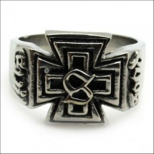 Satan Bible Cross Ring nva525