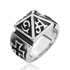 Gothic Mayan word Ring nva551