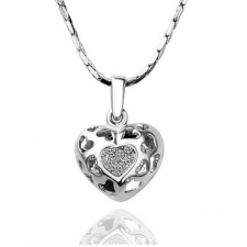 Swarovski Elements Heart 18k White Gold Plated nva556